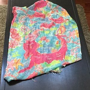 Cape Cod Islands 2016 Lilly Murfee Map Scarf